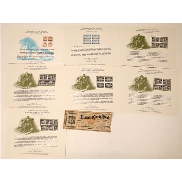 Seven Plates from the Department of the Treasury on Stamp Releases  [130145]