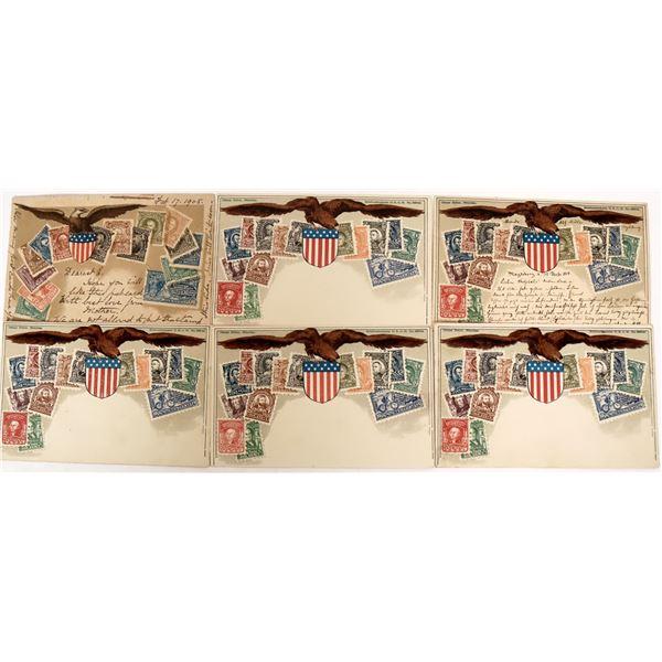 U. S. Stamp Postcards (6)  [135520]