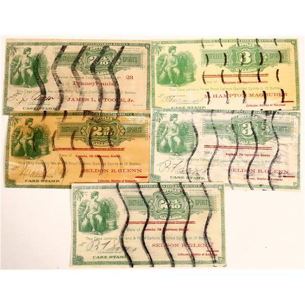 Internal Revenue Distilled Spirits Tax Stamps   [132496]