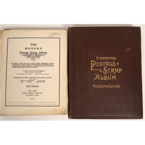 Two Early International Stamp Albums c1860-1900  [132980]