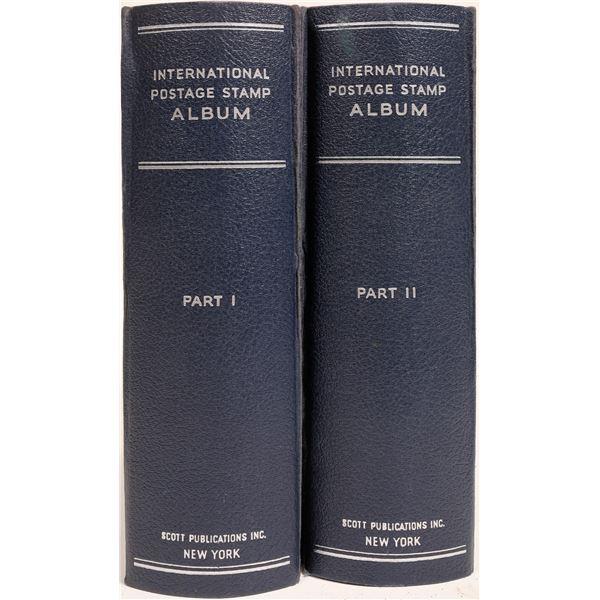 Scott International Postage Album, Two Monster Volumes!  [132979]