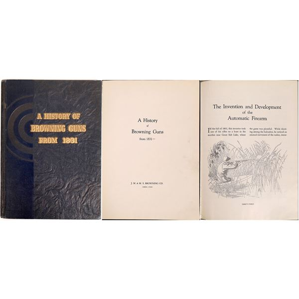 A History of Browning Guns From 1831 Autographed  [132504]