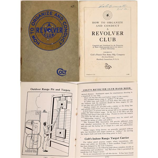 Colt's Revolver Club Hand Book  [132252]