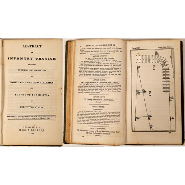 """Abstract of Infantry Tactics"", 1858  [130071]"