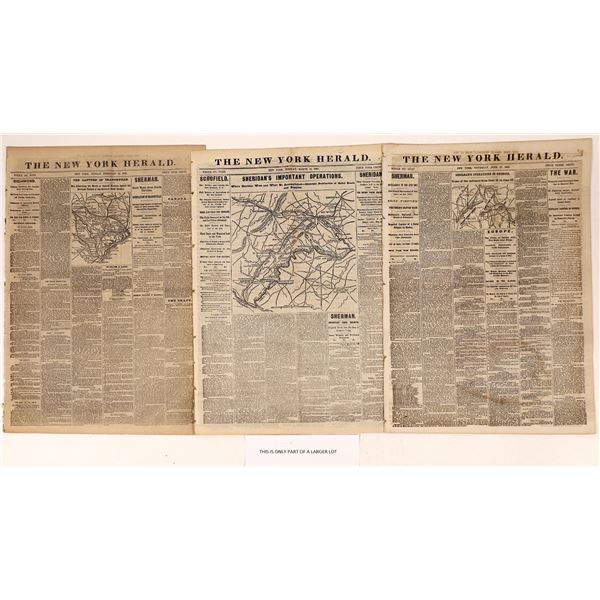 New York Herald news cover stories of the Civil War 1864  [108718]