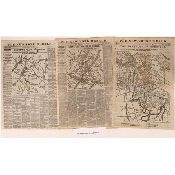 New York Herald news cover stories of the Civil War late 1864  [108719]
