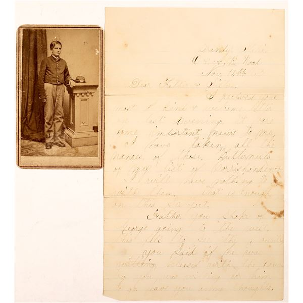 "Civil War Letter Regarding ""Butternuts"" Plus CDV  [131457]"