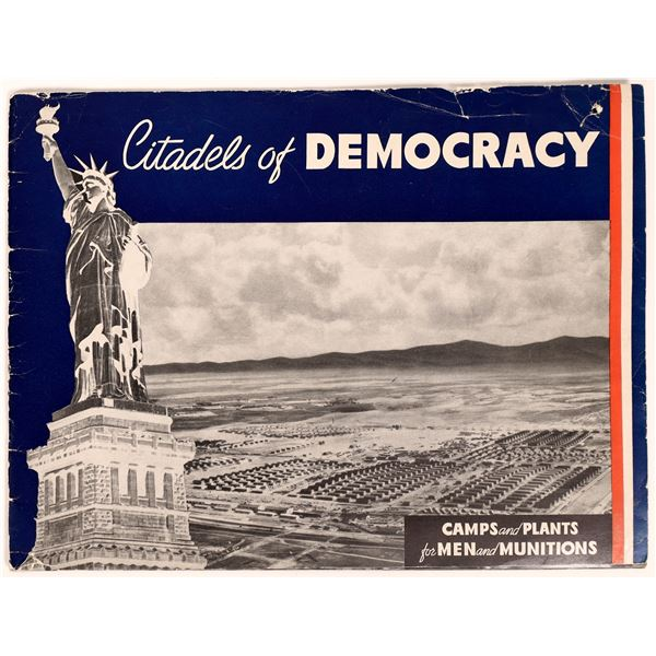 """U.S. Army WWII Photographic Collection Booklet """"Citadels of Democracy""""  [131681]"""
