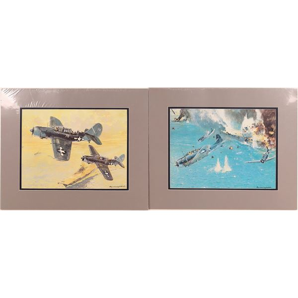U.S. Navy and Army Airforce WWII Aircraft Prints (5)  [131693]