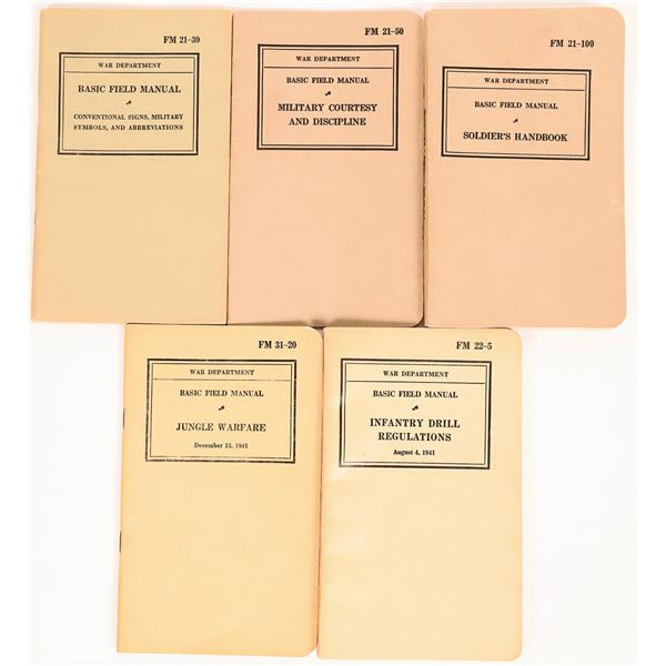 U.S. War Department Basic Field Manuals - 1941 (5)  [131684]