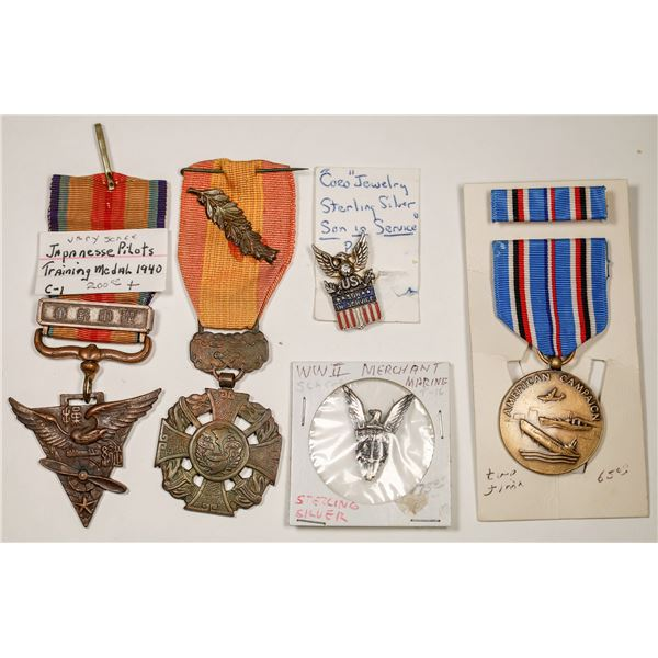 WWII and Vietnam Medals and Pins  [132228]