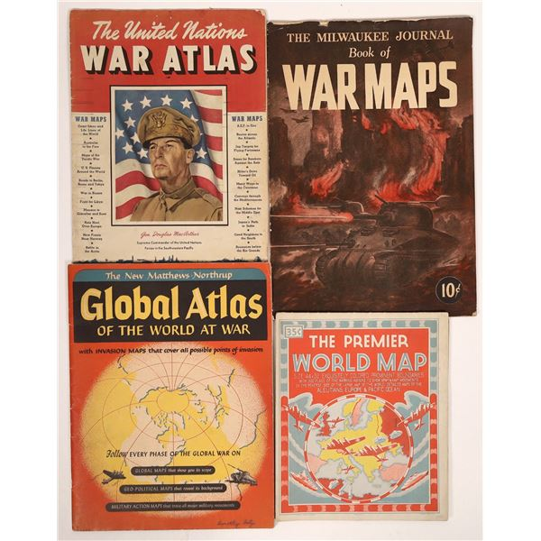 WWII Maps and Atlas (4)  [131686]
