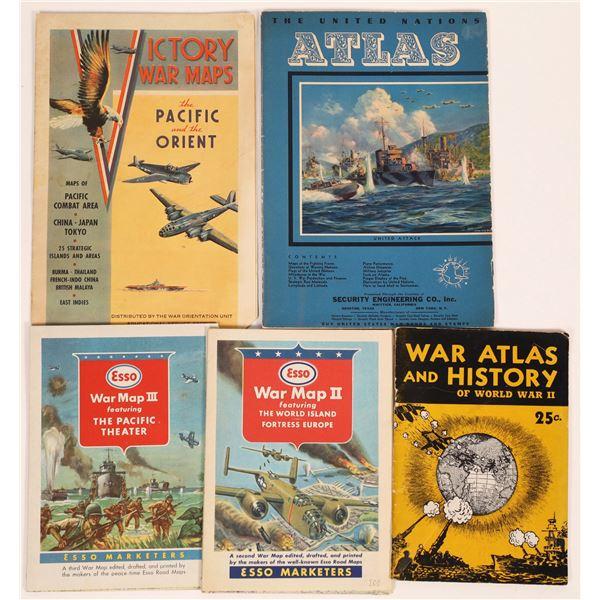 WWII Related Maps & Gazetteers (5)  [131679]
