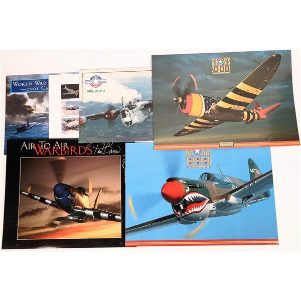 WWII U.S. & Allied Combat Aircraft Calendars (6)  [131694]