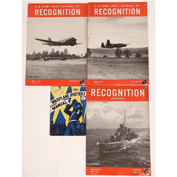 WWII U.S. Army-Navy Recognition Publications (4)  [131687]