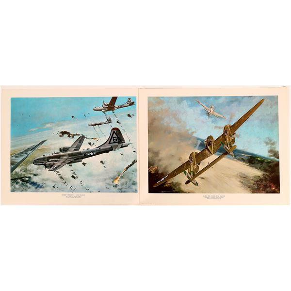 WWII U.S. Combat Aircraft Action Prints (6)  [131690]