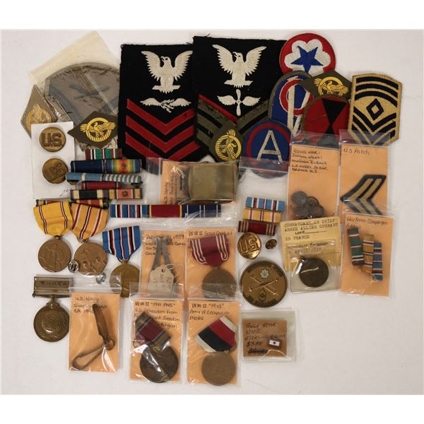 WWII Patches, Pins and Medals  [135426]
