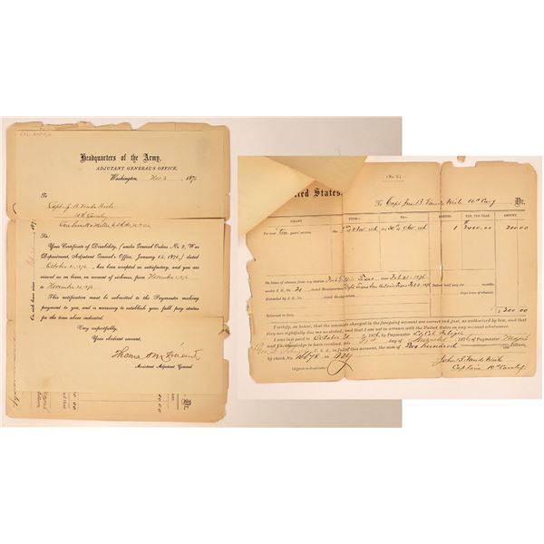 1876 Fort Griffin Soldier's Sick Leave Authorization  [131622]