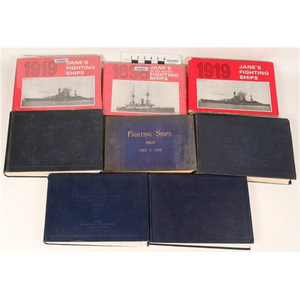 Jane's Fighting Ships, Various Years, 8 Volumes  [108746]