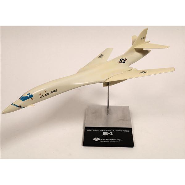 United States Air Force B-1 Bomber B-1 Division Rockwell Desk Model  [133812]