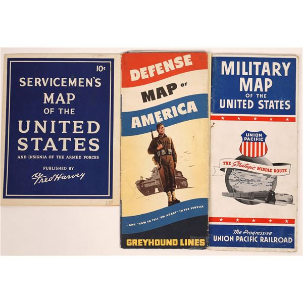 Military Use Maps (3)  [131672]