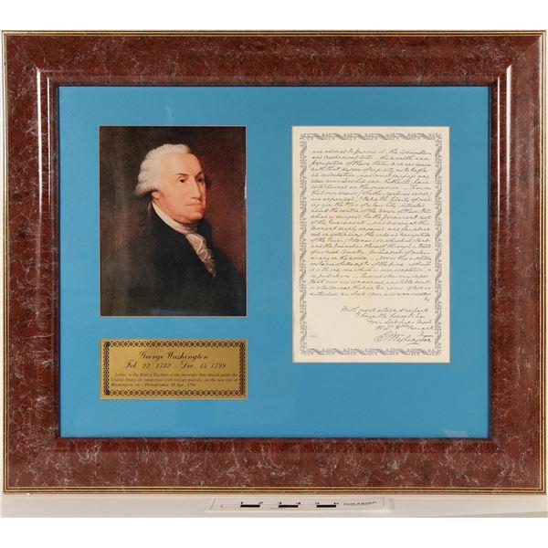 Geo. Washington Portrait and Facsimile Letter  [125197]
