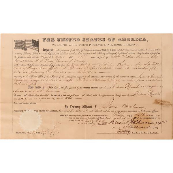 President James Buchanan Autographed Document, 1860  [125233]