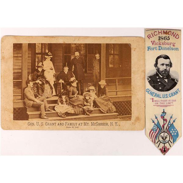General Grant & Family Photo Card & Ribbon  [131620]