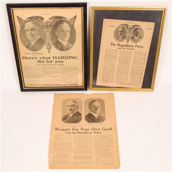 Harding/Coolidge  Political Ads  [129897]