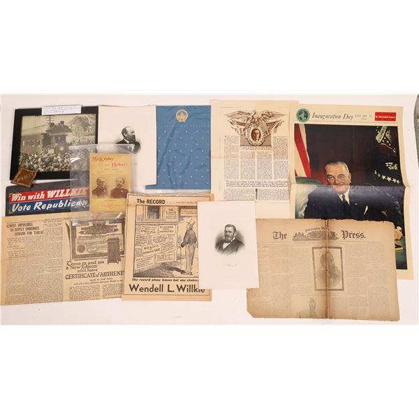 Presidential Ephemera Collection  [131478]