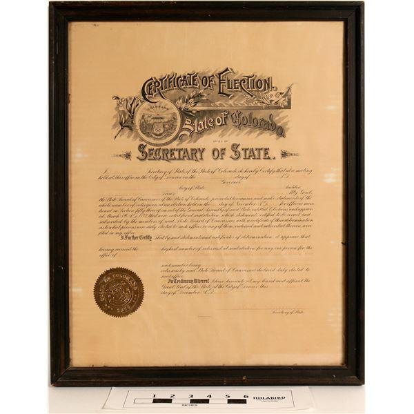 Colorado Political Photos & Election Certificate  [122863]