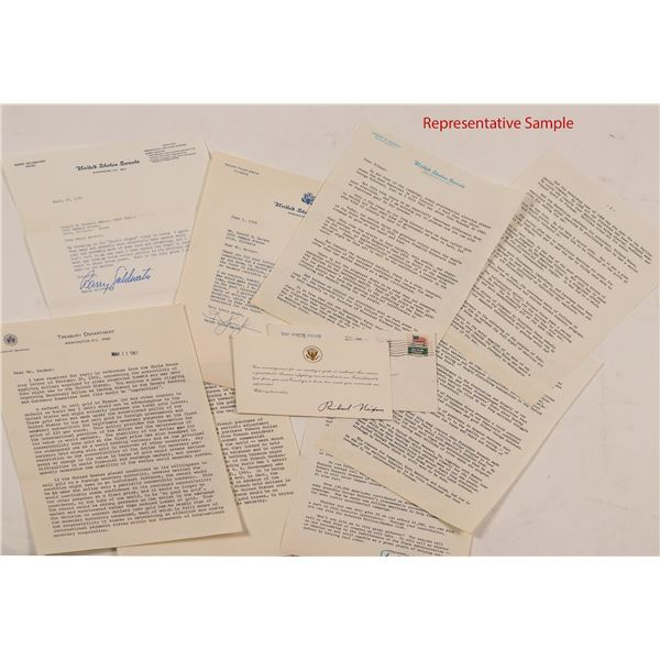40 Political Letters from 1969-1975: Including Stevenson, Goldwater, Thurman, Nixon, etc.  [104505]