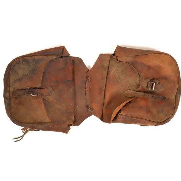 Vintage Leather Saddlebags  [132506]
