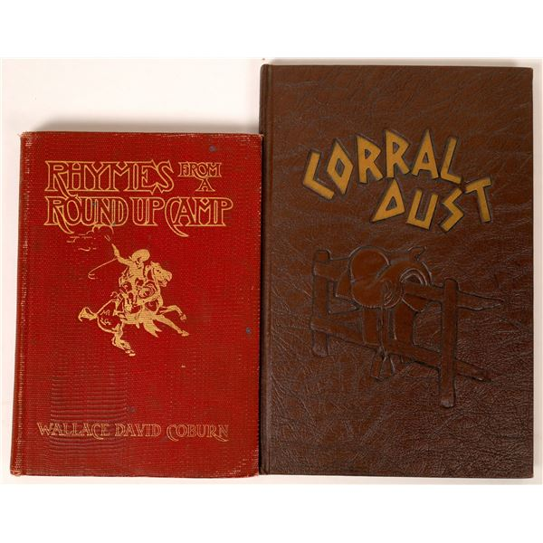 Cowboy Poetry Books Lot of 2  [121704]
