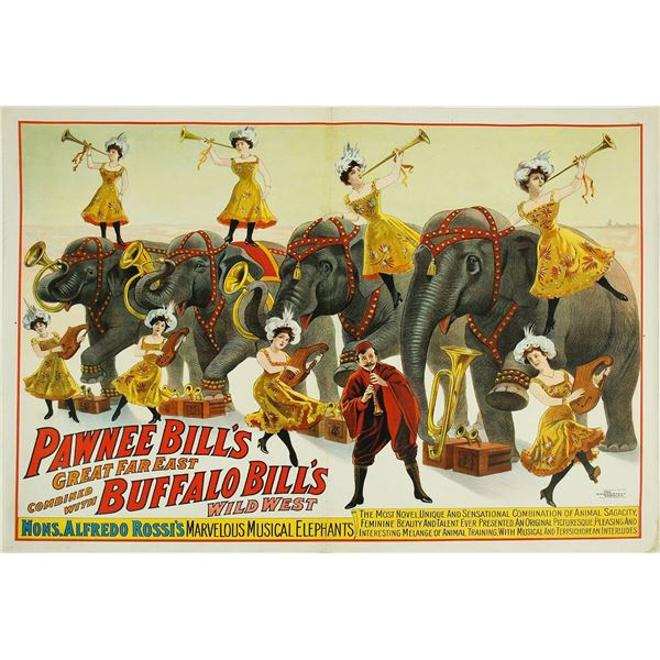 Historic Wild West Poster: Buffalo Bill - Pawnee Bill  [58864]