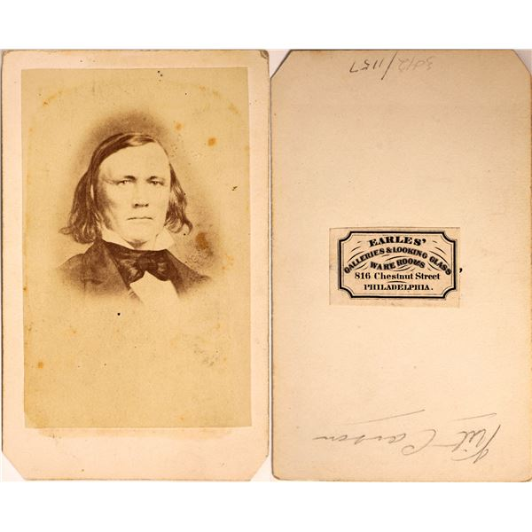 Kit Carson CDV by Earle's Galleries  [131772]