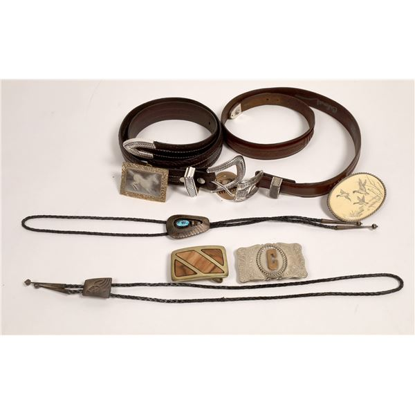 Western Belts, Buckles & Bolos Group (8 Items)  [133762]
