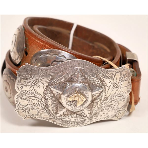 Sterling Silver Belt Buckle with Belt  [132936]