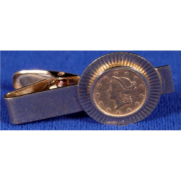 Gold Coin Tie Clasp  [133855]