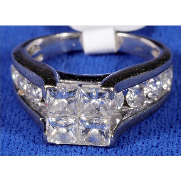 Princess Quad Collar Diamond Ring  [133850]
