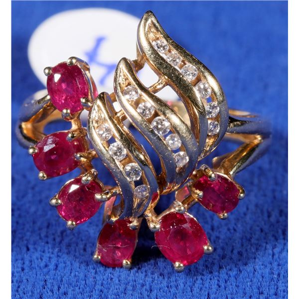 Ruby and Diamond Ring  [133853]