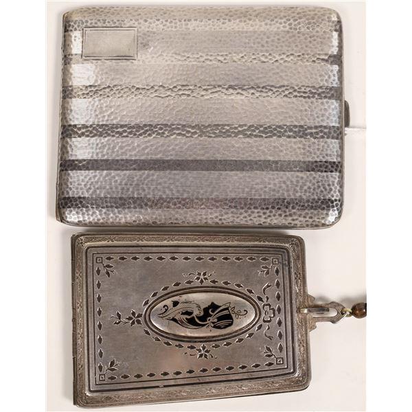 Silver Compact and Cigarette Case  [132493]