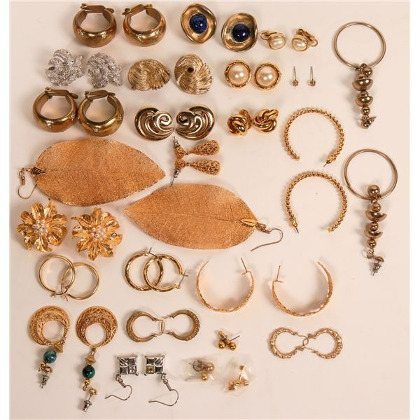 Group of Gold-toned Earrings  [121212]