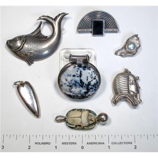 Lucky Seven Silver Pendants  [124874]