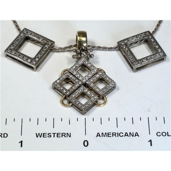 Modern Diamond Necklace  [124855]