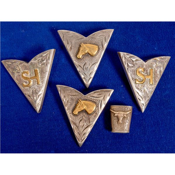 Sterling Collar Tips and Bolo Slide  [132792]