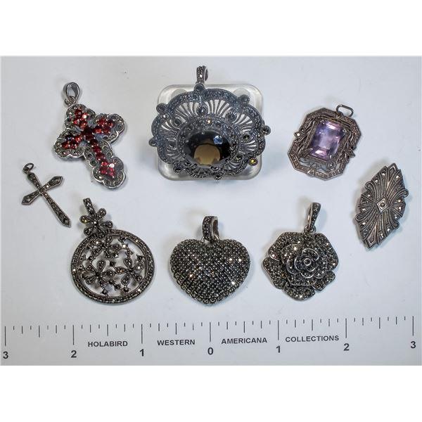 Vintage Marcasite Pendants  [124872]