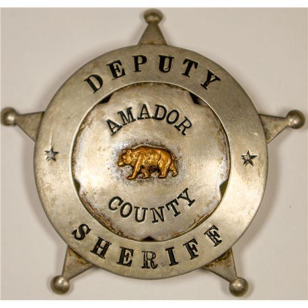 Amador County Deputy Sheriff Badge  [132234]