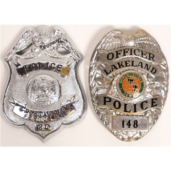 Lakeland, Fl Police Officer Badge and a Police Reserve for Festus, Mo.  [132842]
