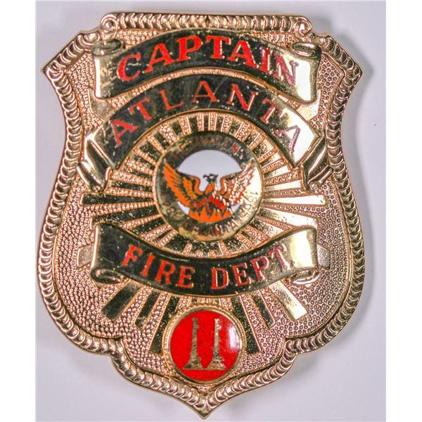 Captain Atlanta Fire Dept. Badge  [132484]
